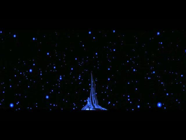 蓝色炫光粒子化蝶纷飞开场LED素材