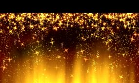 星星粒子飘落晚会背景视频