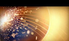 金色火花粒子邊緣綻放素材