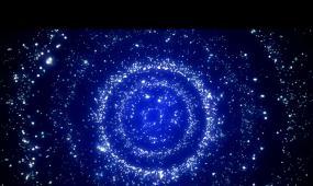 夜空藍色旋窩粒子旋轉素材