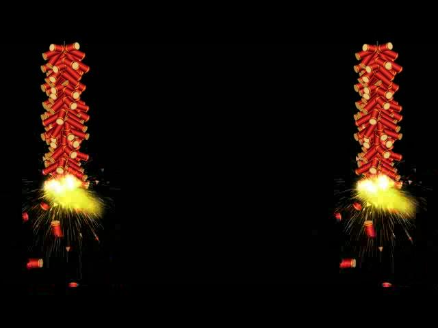 新年动态鞭炮视频素材