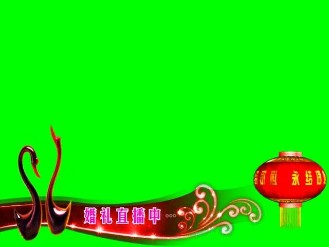 婚礼直播中字幕条