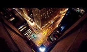 城市夜景一角