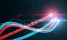 会声会影粒子炫光震撼线条logo模板