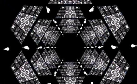 黑白隧道动感节奏