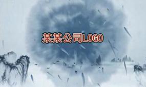 会声会影中国红水墨年会开场片头视频素材