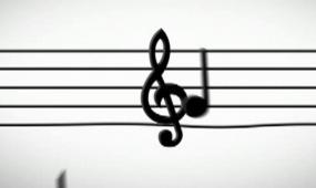 LED音乐音符背景视频素材
