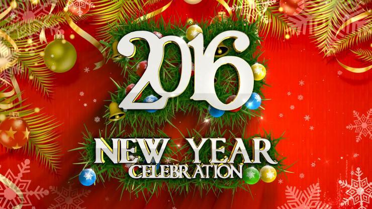 2016新年背景视频