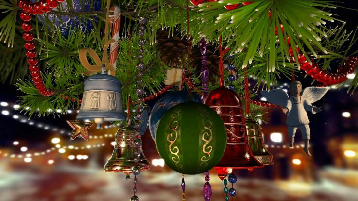 旋转圣诞树视频