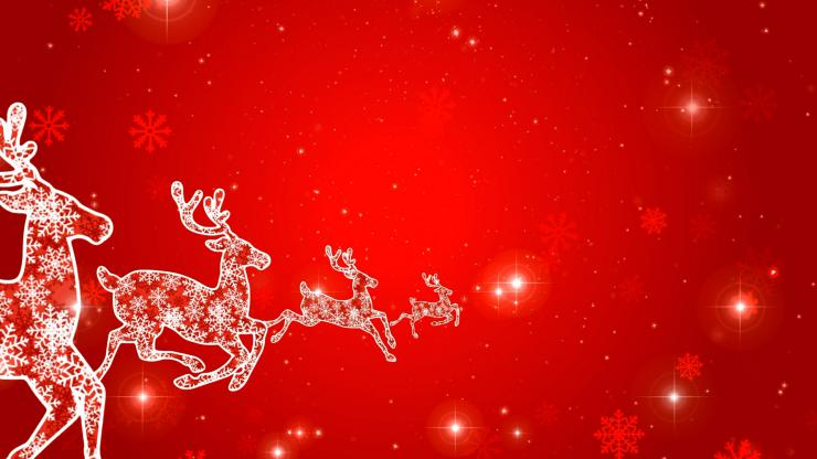 圣诞鹿无缝循环播放视频