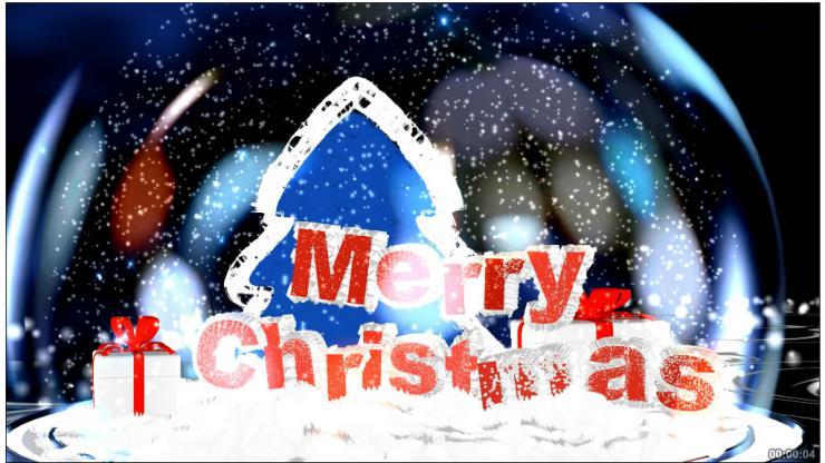 圣诞节玻璃球视频