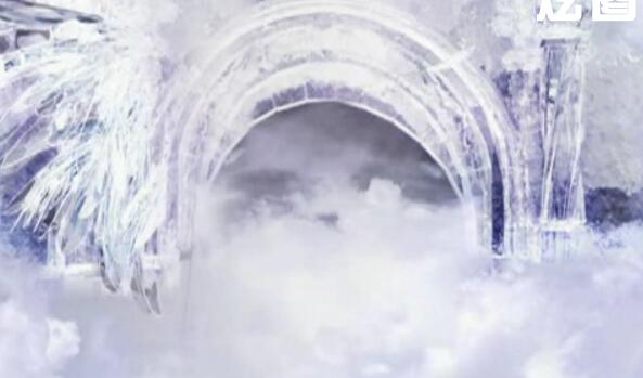 唯美宫殿婚礼LED视频背景素材