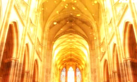 唯美宫殿LED婚礼背景视频素材