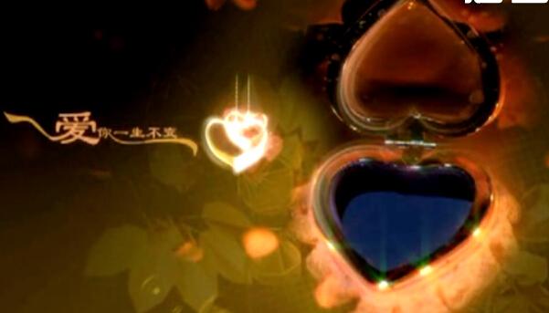 爱你一生不变爱心戒指视频素材