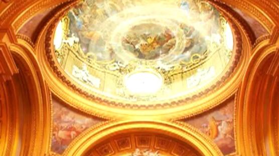 宫殿爱心LED婚礼背景视频素材