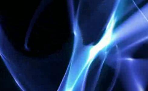 蓝色幻影光线光束视频素材