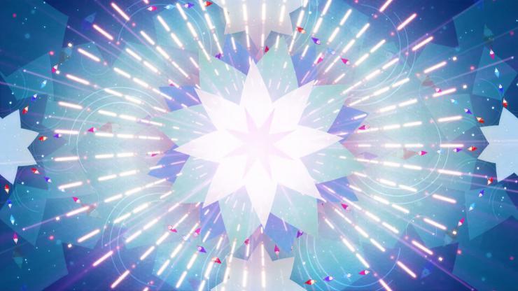 花瓣万花筒放射光线绚丽led大屏
