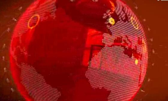 动态红色新闻球背景视频素材