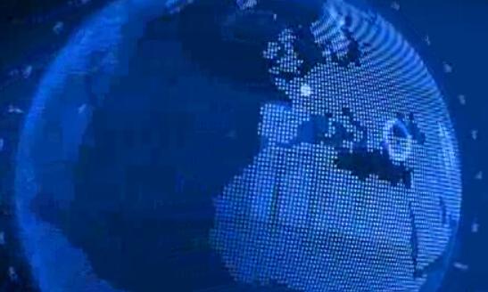 蓝色动态新闻球背景视频素材