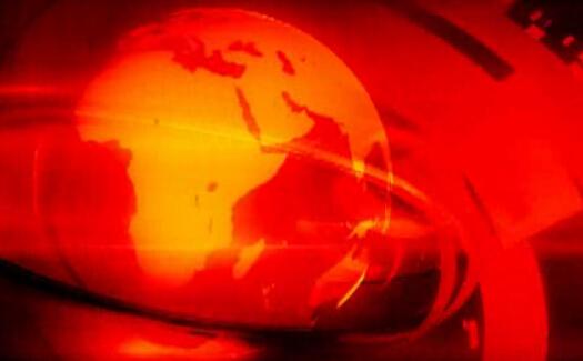 红色光晕动态新闻球视频素材