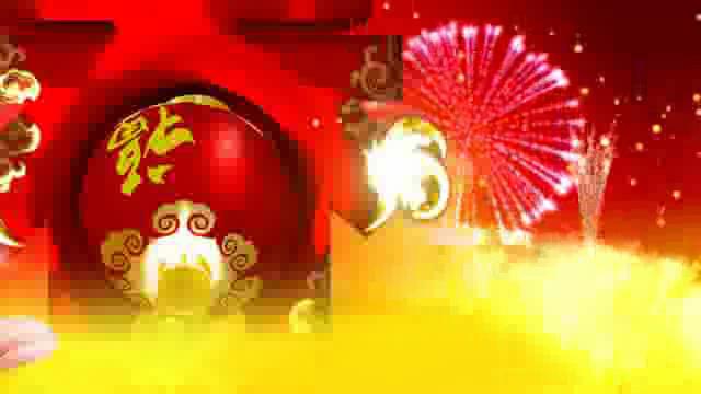 春节晚会舞台背景视频素材