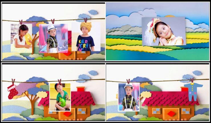会声会影x6x7x8模板可爱儿童电子相册