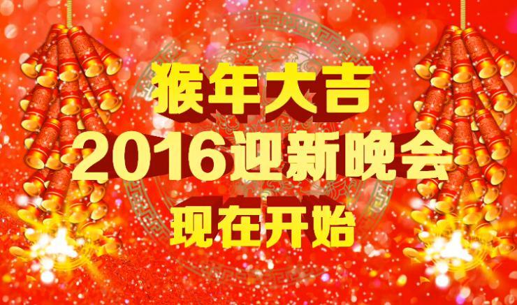 2016猴年大气开场节日喜庆片头视频素材
