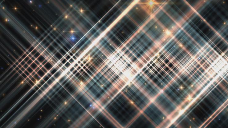 绚丽 星光 闪烁 网格 交织