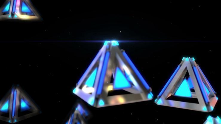 酒吧 夜店 高清 动感 LED 背景 金属 物体 高速运动