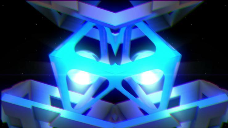 酒吧 夜店 高清 动感 LED 背景 金属 方块 高速运动