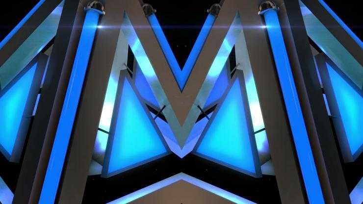 酒吧 夜店 高清 动感 LED 背景 玻璃质感 方块 高速运动