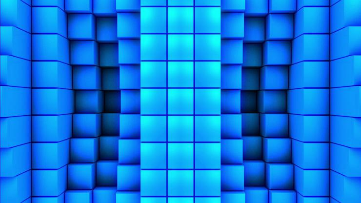 酒吧 夜店 高清 动感 LED 背景 方块 高速运动