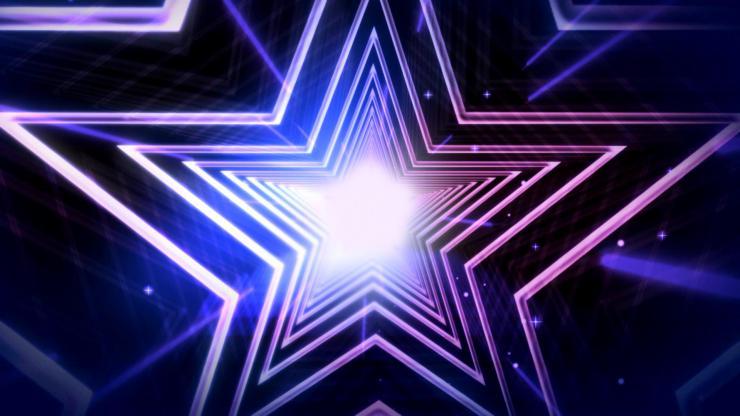 LED酷炫动态五星视频素材