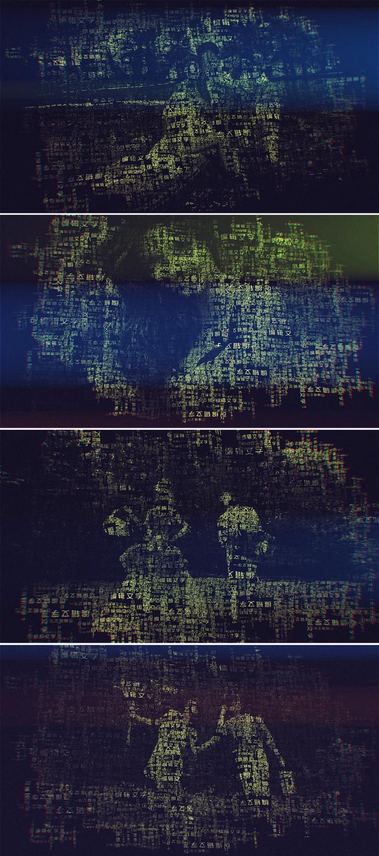 字母组成图片人脸ae模板