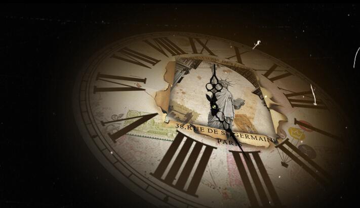 复古时钟与自由女神视频素材