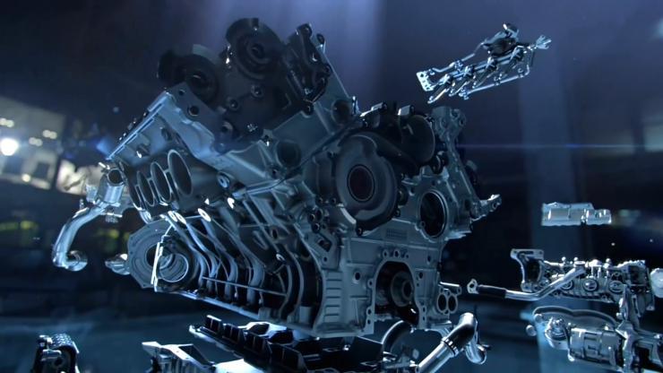 汽车内部引擎结构展示