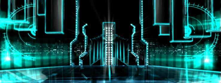 线条飘飞粒子 大屏幕LED高清背景视频素材