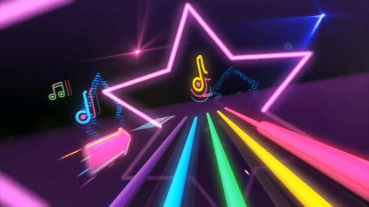 荧光星星音符 大屏幕LED高清背景视频素材