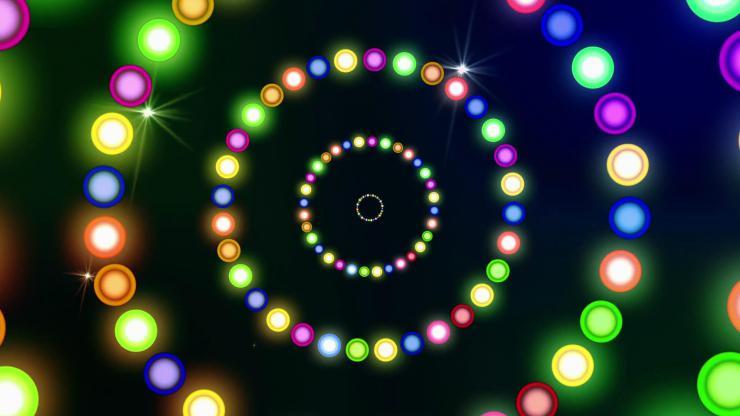 动感绚丽多彩灯光舞台背景视频