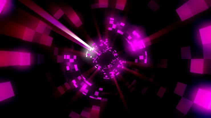 闪耀光芒视觉隧道