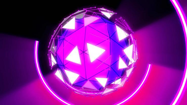 光环球体旋转vj素材