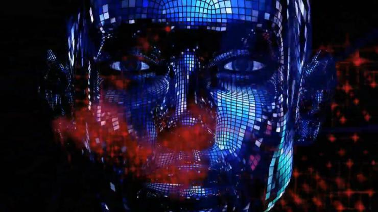 蓝色科技人脸
