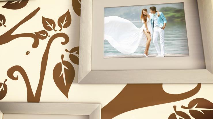 浪漫唯美婚礼婚庆相册模板