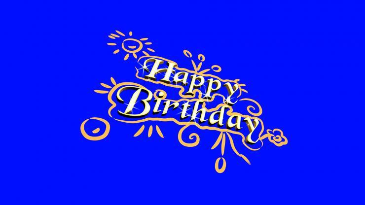 生日快乐英文高清视频素材