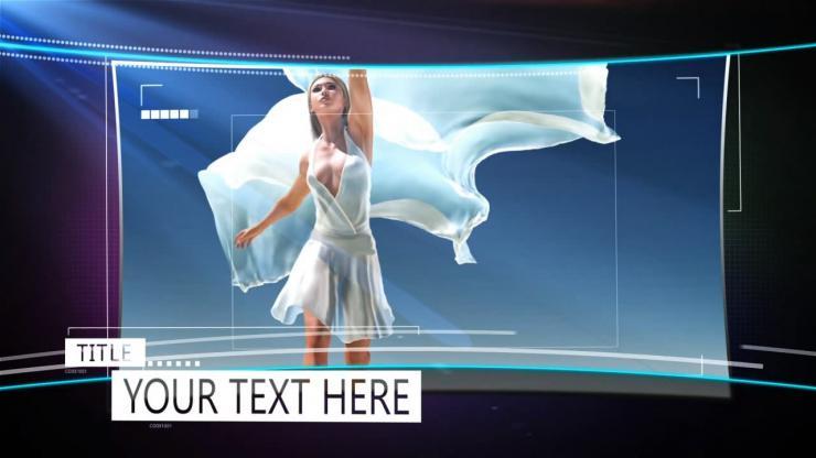 简洁大气幻灯片图片展示ae模板