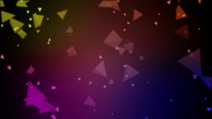 绚丽三角体背景视频