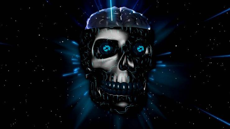 蓝色激光3D骷髅说唱
