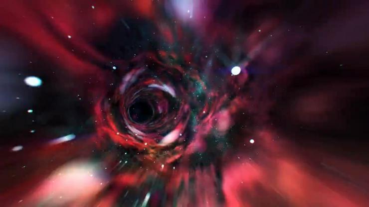 色彩斑斓隧道