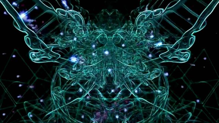 创意蓝色LED背景
