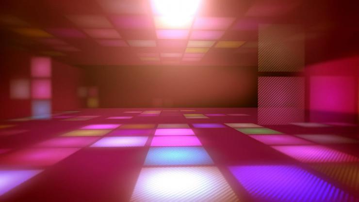 3D粉色空间